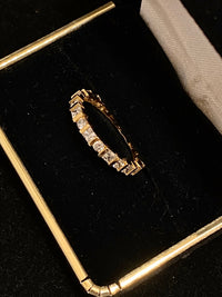Unique Designer Round Brilliant & Princess Diamond Eternity Band Ring - $10K Appraisal Value w/CoA}