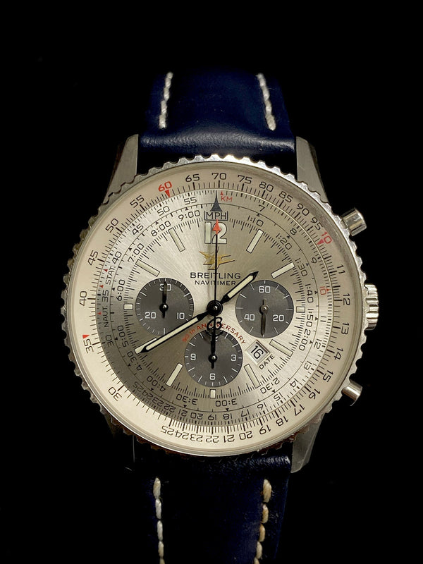 BREITLING Limited 50th Anniversary Edition Navitimer Chronograph in Stainless Steel - $15K Appraisal Value! ✓