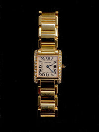 CARTIER Tank Francaise Ladies 18K Yellow Gold Watch w/ 25 Diamonds! - $35K APR w/ CoA✓