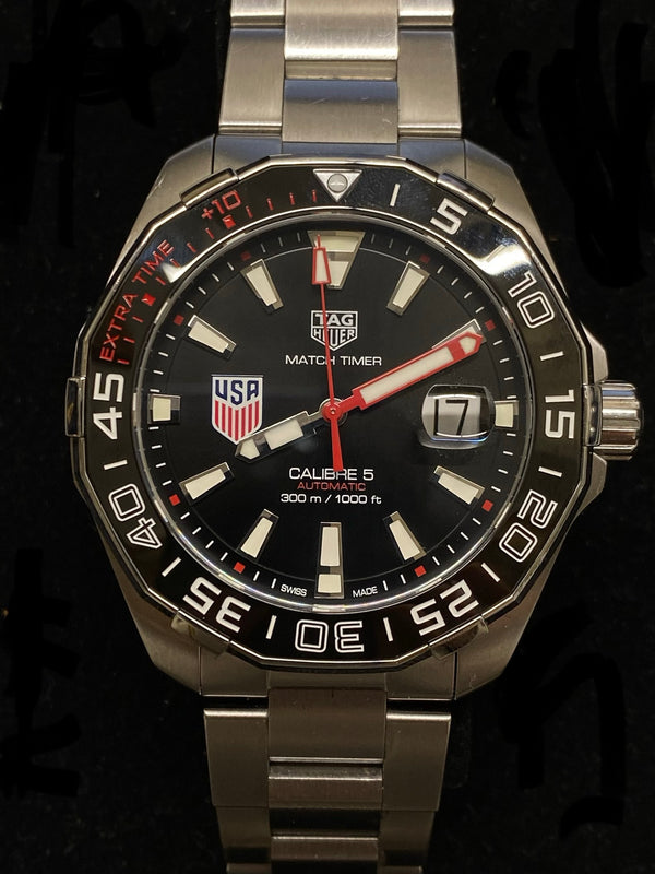 TAG HEUER Limited Edition #70/200 AquaRacer US Soccer Stainless Steel Men's Watch - $8K Appraisal Value! ✓