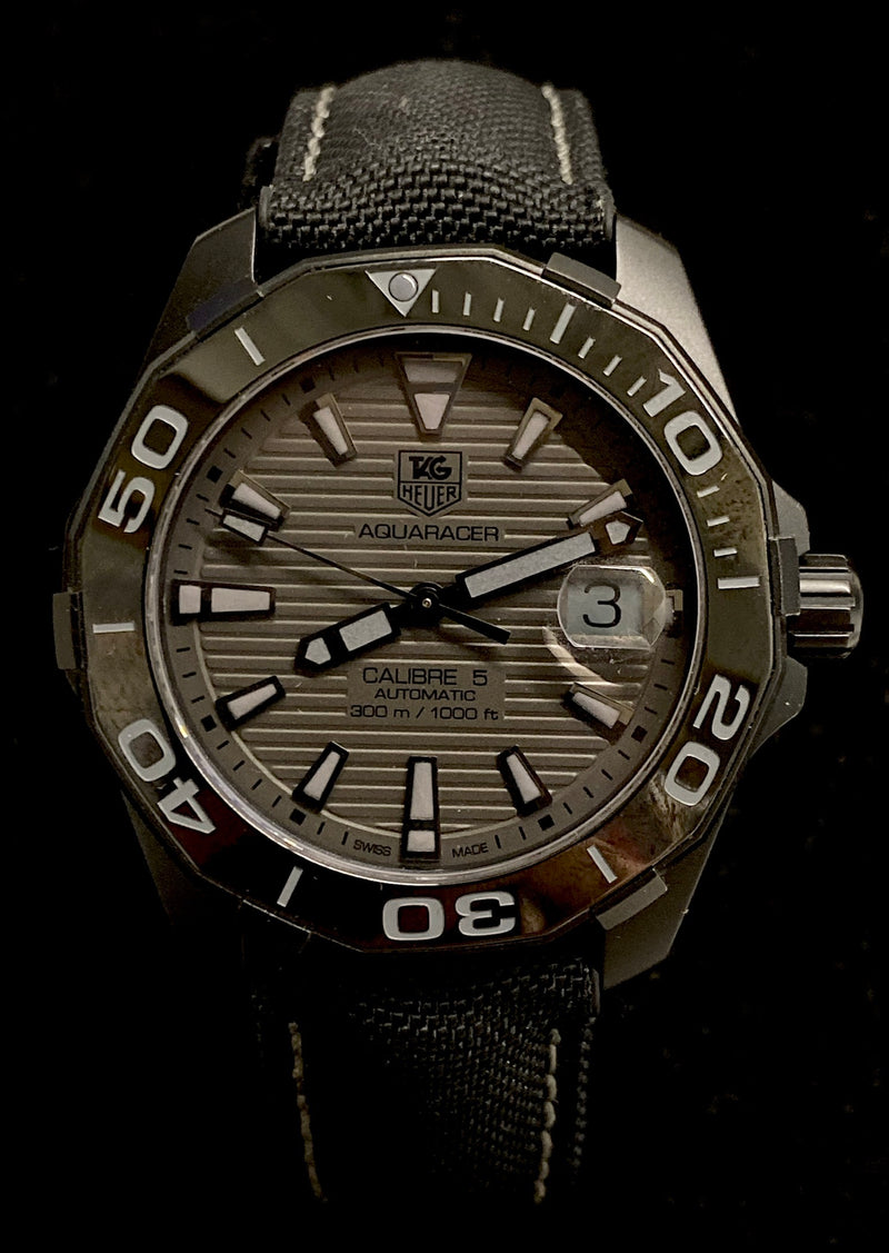 TAG HEUER AquaRacer Stainless Steel Men's Watch -  Limited Edition of 2500 - $6K Appraisal Value! ✓
