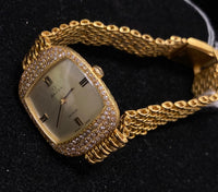 OMEGA De Ville 18K Yellow Gold Ladies Watch w/ 100 Diamonds! - $30K Appraisal Value! ✓
