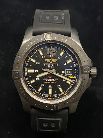 BREITLING Colt Automatic Ref. M17388 Limited Edition Men's Watch #44/100! - $10K Appraisal Value!