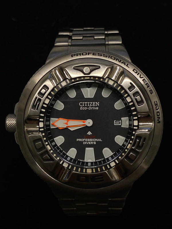 Men's CITIZEN  Eco-Drive Professional Diver Ref. #BJ8050-59E - $2K VALUE!