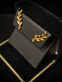 TIFFANY & CO. Paloma Picasso 18K Yellow Gold Olive Leaf Climber Earrings $1K Appraisal Value w/CoA}