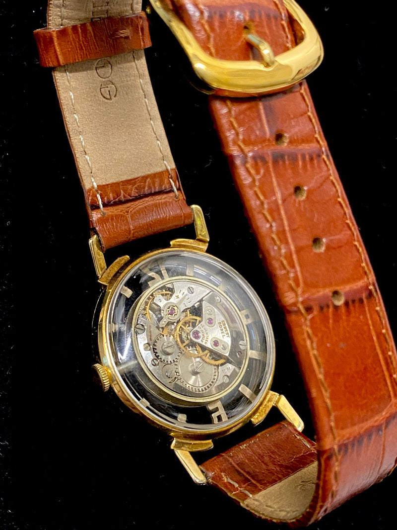 BOREL Amazing Vintage Circa 1960s Psychedelic Style Gold-tone Wristwatch - $6K Appraisal Value! ✓