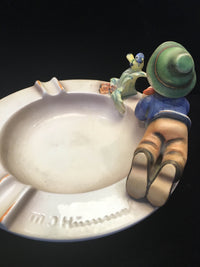 "GOEBEL HUMMEL ""Little Boy with Bird"" Collectible Signed Ashtray, c. 1960s- $1.5K VALUE*"