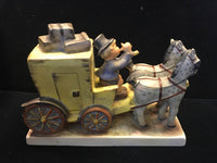 "GOEBEL HUMMEL ""Mail Is Here"" Horses and Carriage Figurine, C. 1960s - $1.5K VALUE*"