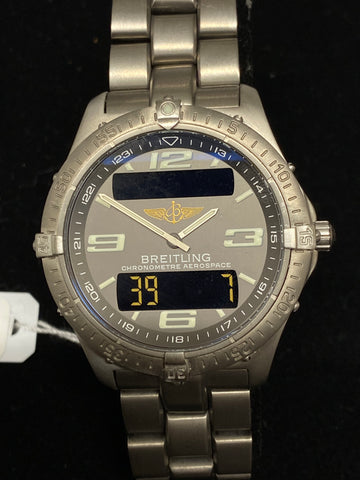 BREITLING Chronometer Aerospace in Stainless Steel, Incredibly Rare Men's Watch - $7K Appraisal Value!