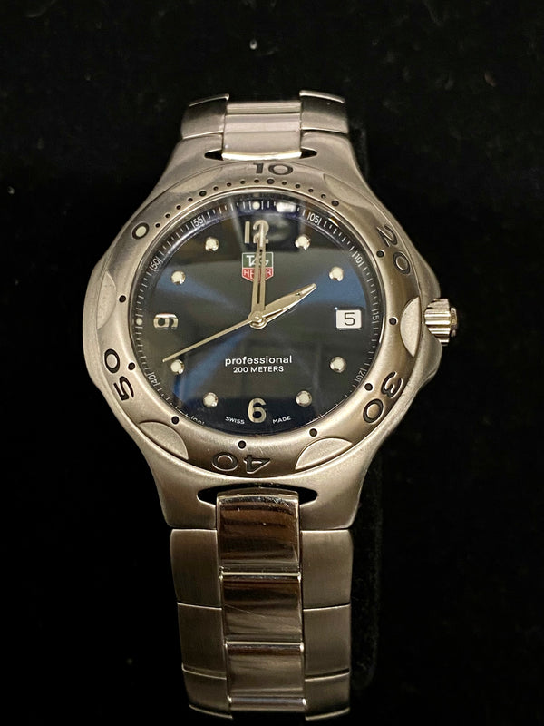 TAG HEUER Kirium Professional 200M Diver's Stainless Steel Watch w/ Rare Blue Dial - $4K Appraisal Value! ✓