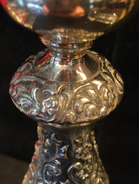 1950's Durham Candlestick Sterling Silver Intricate Design High Quality - $10K VALUE*