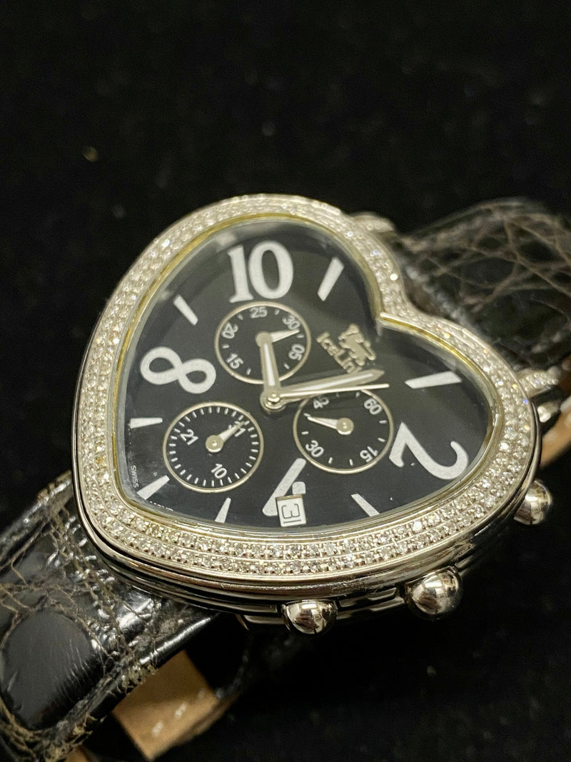 ICELINK Sagitta Heart Shaped Chronograph w/ 160 Factory Diamonds! - $10K Appraisal Value! ✓