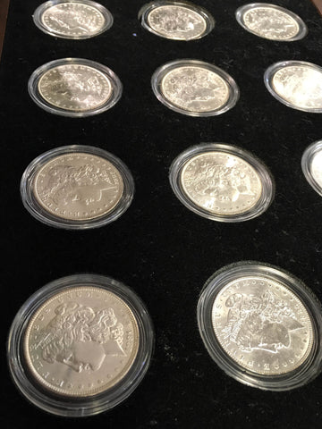 1878-1904 U.S. Peace Silver Dollar Complete Collection The Silver Mint LTD Morgan 15 Coins $1500 VALUE