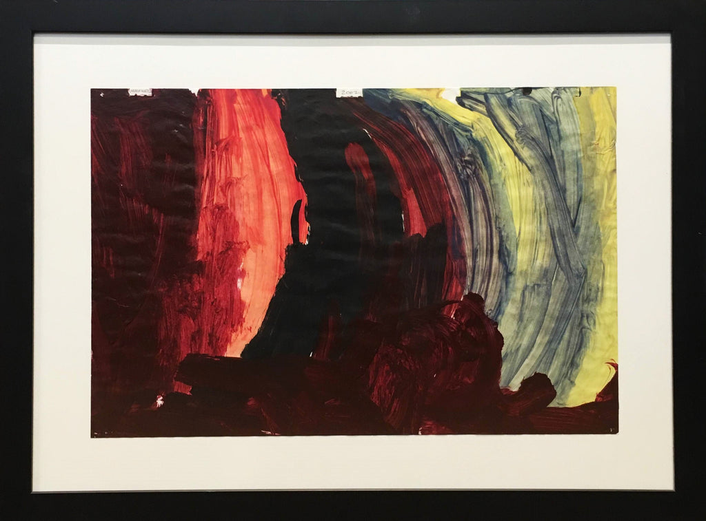 2002 Maxwell Abstract Painting Oil on Paper Prof. Framed Medium Size Original Signed - $5k VALUE