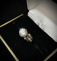 Solid White Gold Diamond Crystal Ring - $5K Appraisal Value w/ CoA! }