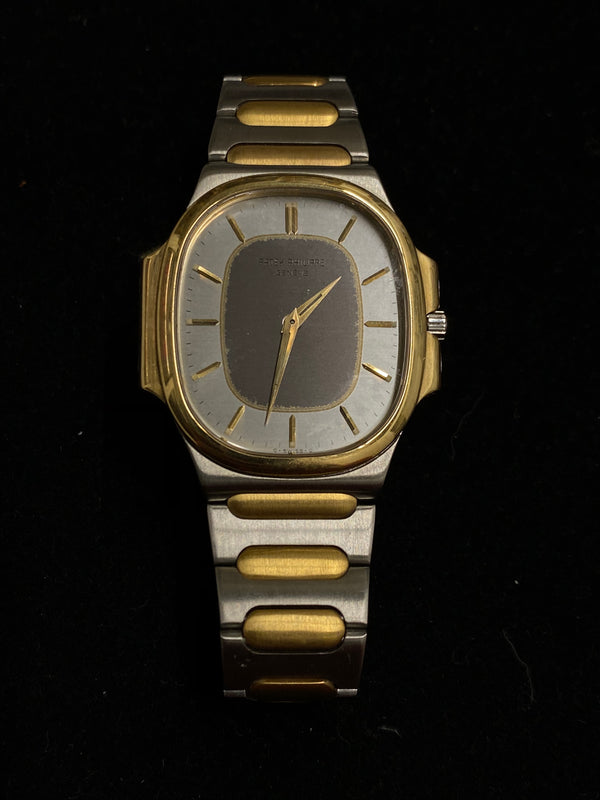 PATEK PHILIPPE Incredile Rare Two-Tone 18K Yellow Gold & Stainless Steel Wristwatch Ref. #3770 - $40K Appraisal Value! ✓