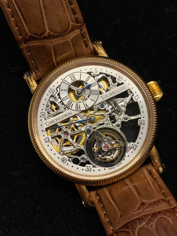 CHRONOSWISS 18K Rose Gold Regulateur Tourbillon w/ Skeleton Dial! - $150K Appraisal Value! ✓
