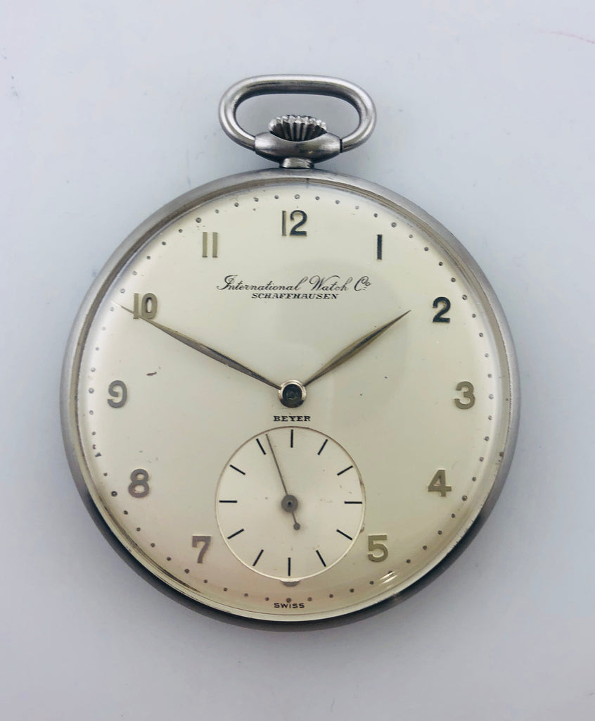 1930s Vintage,International Watch Schaffhausen Beyer Pocket SS,Value$20K,w/Cert