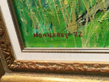 1972 Jean Monneret Country House Original Oil Painting Signed Framed France w/COA - $10K VALUE