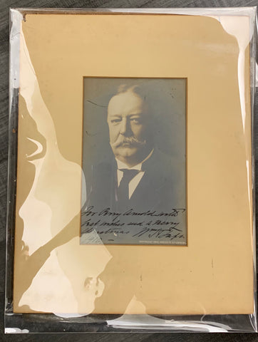 President William Taft Signed and Autographed Photograph Circa 1900's $20K VALUE