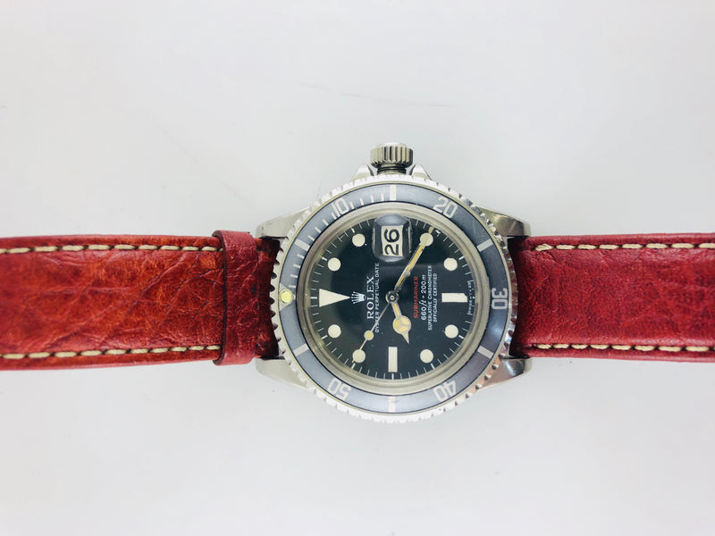 ROLEX Vintage C. 1969 Red Submariner Oyster Perpetual Date, Ref #1680 - $35K VALUE w/ Cert!