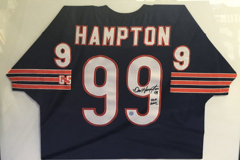 1970's Dan Hampton Danimal Number 99 Jersey Shirt Football NFL Signed w/COA - $2K VALUE