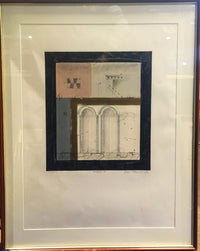 Elizier Alexander, 'The Anchor I', Monoprint Pastel Pencil on Paper, 1989, Architecture. Signed & Dated! - $2K APR VALUE*