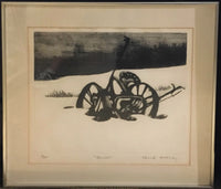 "Edward McCluney, ""Mower"", Etching LTD ED, 1970's, Signed & Framed - $2K Apr Value*"