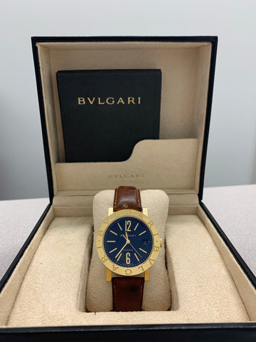 Bvlgari 18K Yellow Gold Men's Wristwatch $25K Value