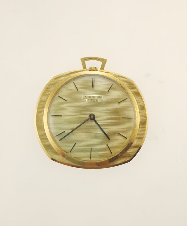 1940s Patek Philippe Pocket Watch in 18K Yellow Gold with Unlockable Florentine Case - $40K VALUE