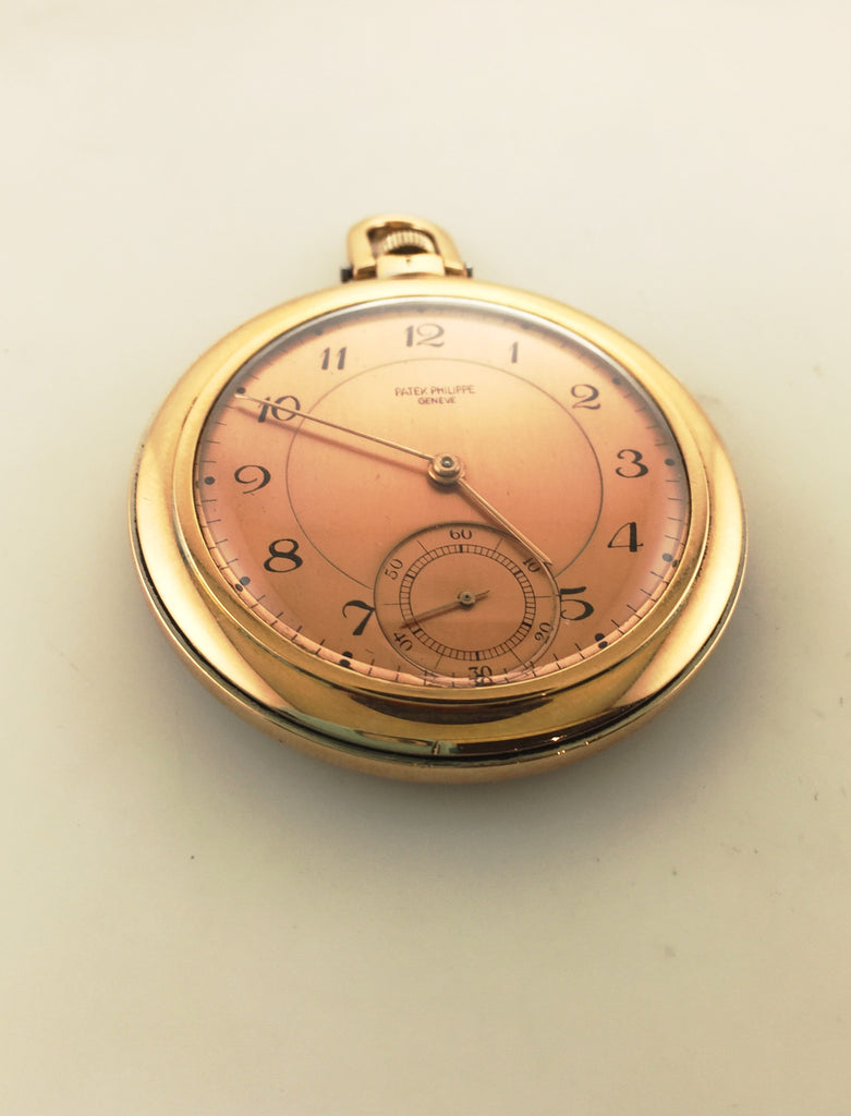 b9d6d40b801 1940s Vintage Patek Philippe 18K Rose   WG Pocket Watch with Salmon Dial -   20K