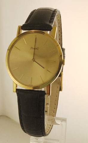 Vintage Piaget Men's Rare Large Model Watch in 18K Yellow Gold - $20K VALUE