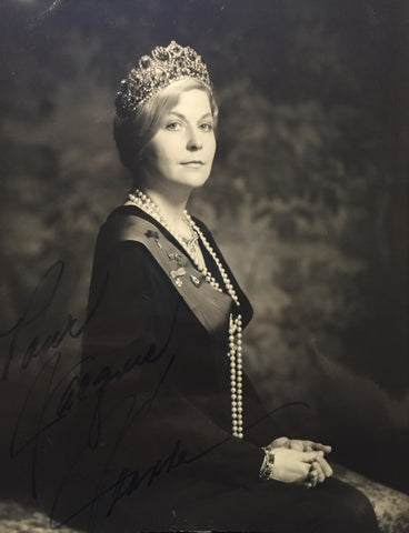 Very Rare Autographed Photograph of Princess Jeanne of Romania 1971 - $5K VALUE