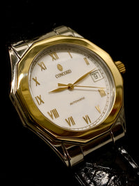 CONCORD Limited Edition Mariner Automatic Two-Tone Stainless Steel & 18K Yellow Gold Watch - $10K Appraisal Value! ✓