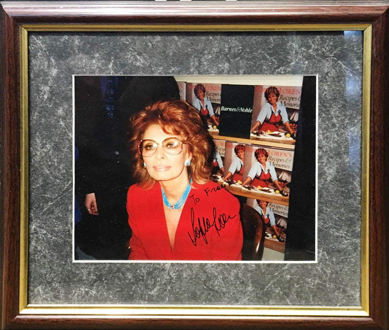 "SOPHIA LOREN ""Sophia Loren's Recipes & Memories"" Signed & Framed - $1K VALUE"