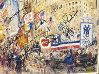 NEW YORK YANKEES 1996 World Champs Parade Print by Kamil Kubik, Signed by 15 Players - $10K VALUE
