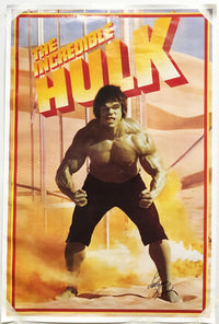"""The Incredible Hulk"" 1978 TV-Series Poster Signed by Lou Ferrigno - $2K VALUE"