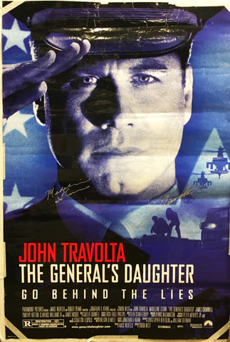 """The General's Daughter"" 1999 Movie Poster Signed by John Travolta Madeleine Stowe - $K VALUE"