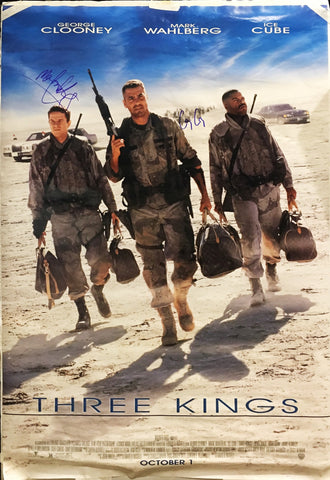 """Three Kings"" 1999 Movie Poster Autographed Signed by George Clooney Mark Wahlberg  - $2K VALUE"