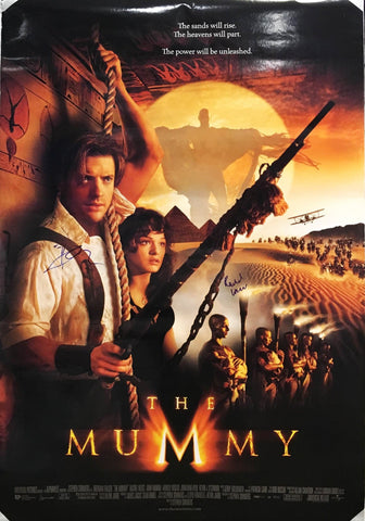 """The Mummy"" 1999 Movie Poster Signed by Brandon Fraser Rachel Weisz - $2K VALUE"