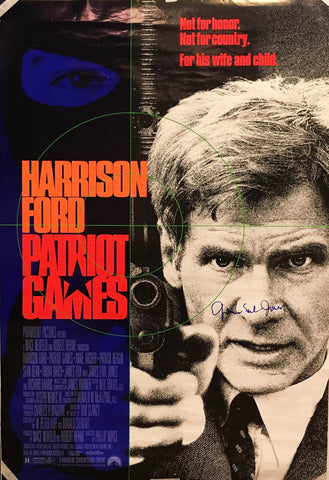"""Patriot Games"" 1992 Movie Poster Autographed Signed by Harrison Ford - $1,000.00 VALUE"