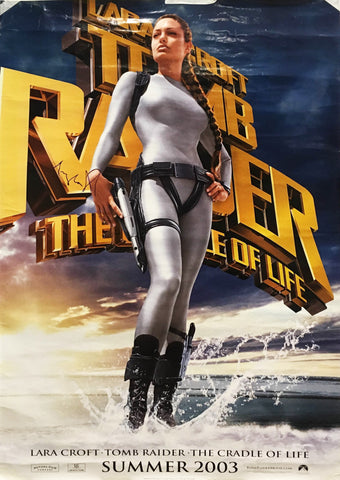 """Lara Croft Tomb Raider: The Cradle of Life"" 2003 Movie Poster Signed by Angelina Jolie  - $K VALUE"