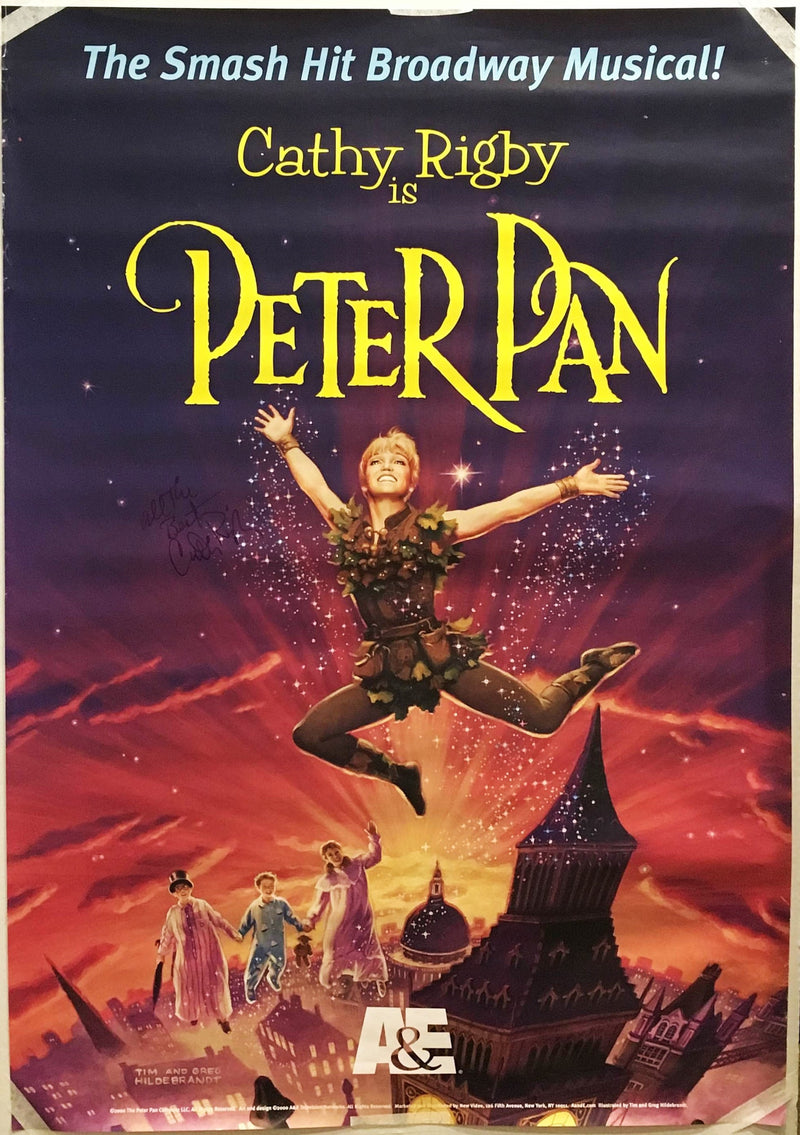 """Cathy Rigby is Peter Pan"" 2000 Broadway Musical Poster Signed by Cathy Rigby - $600.00  VALUE*"