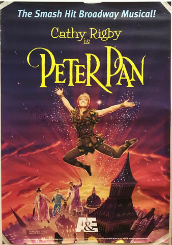 """Cathy Rigby is Peter Pan"" 2000 Broadway Musical Poster Signed by Cathy Rigby - $K VALUE"