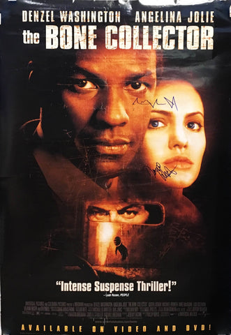 """The Bone Collector"" 1999 Directed by Phillip Noyce Movie Poster Signed by Angelina Jolie Denzel Washington - $1,000.00 VALUE"