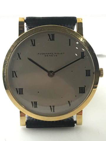 Audemars Piguet Ultra-Thin Men's Wristwatch-18k Yellow Gold! Orig Strap 40K Val!