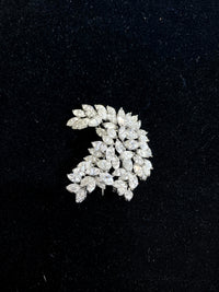 1940's Style 18KWG 26+ Carat Diamond Leaf Spray Motif Brooch/Pin w $125K COA!!}