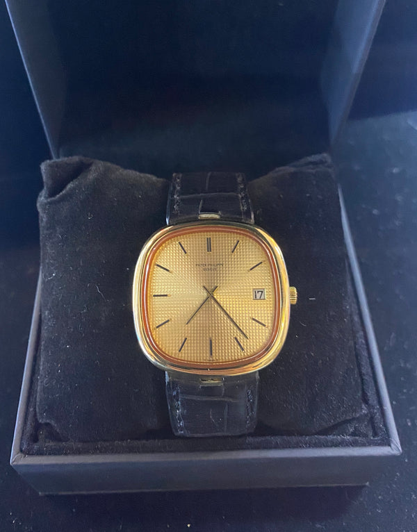 PATEK PHILIPPE Ref. #3604 18K Yellow Gold Rare Oval Mens Watch - $60K Appraisal Value w/ CoA! ✓