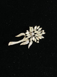 1930's Style Designer 58 Diamonds in Platinum Flower Brooch/Pin w $80K COA !!!}
