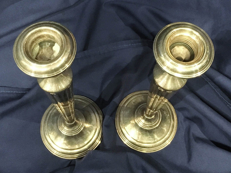 CARTIER Elegant Vintage Pair of Sterling Silver Candlesticks - Stamped, Weighted - $8K VALUE*